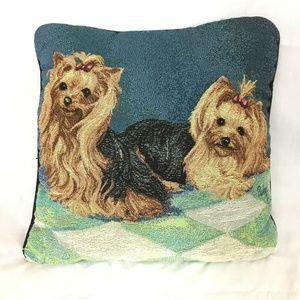 Yorkie Tapestry Accent Pillow Yorkshire Terrier